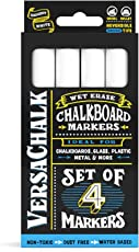 White Liquid Chalk Markers by VersaChalk - For Chalkboard Signs, Blackboards, Glass, Windows