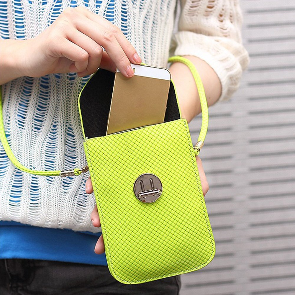 Functional Roomy Pocket Small Crossbody Bag Cell Phone Purse Wallet For Women by She25 (Image #4)