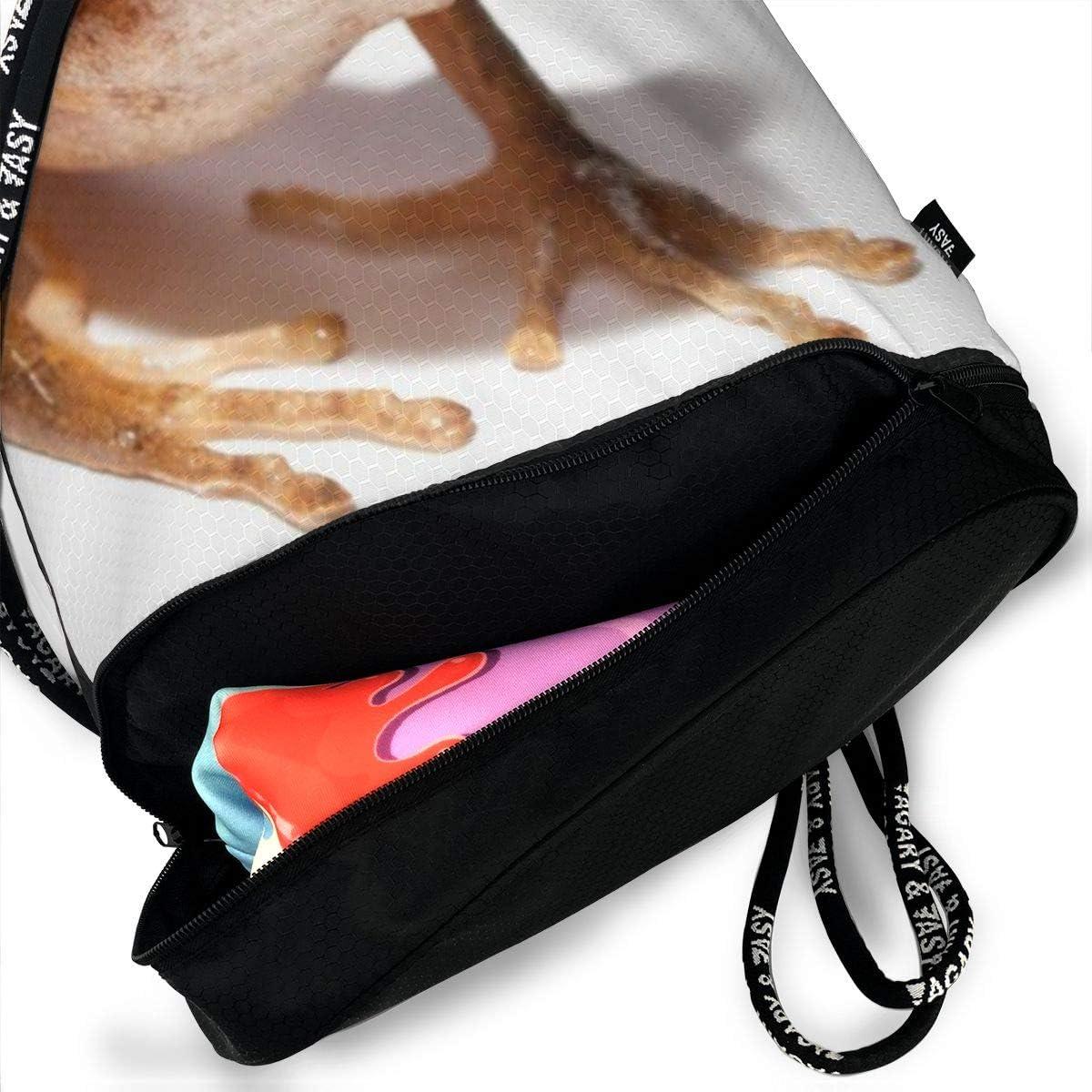 GymSack Drawstring Bag Sackpack Horned Frog Sport Cinch Pack Simple Bundle Pocke Backpack For Men Women