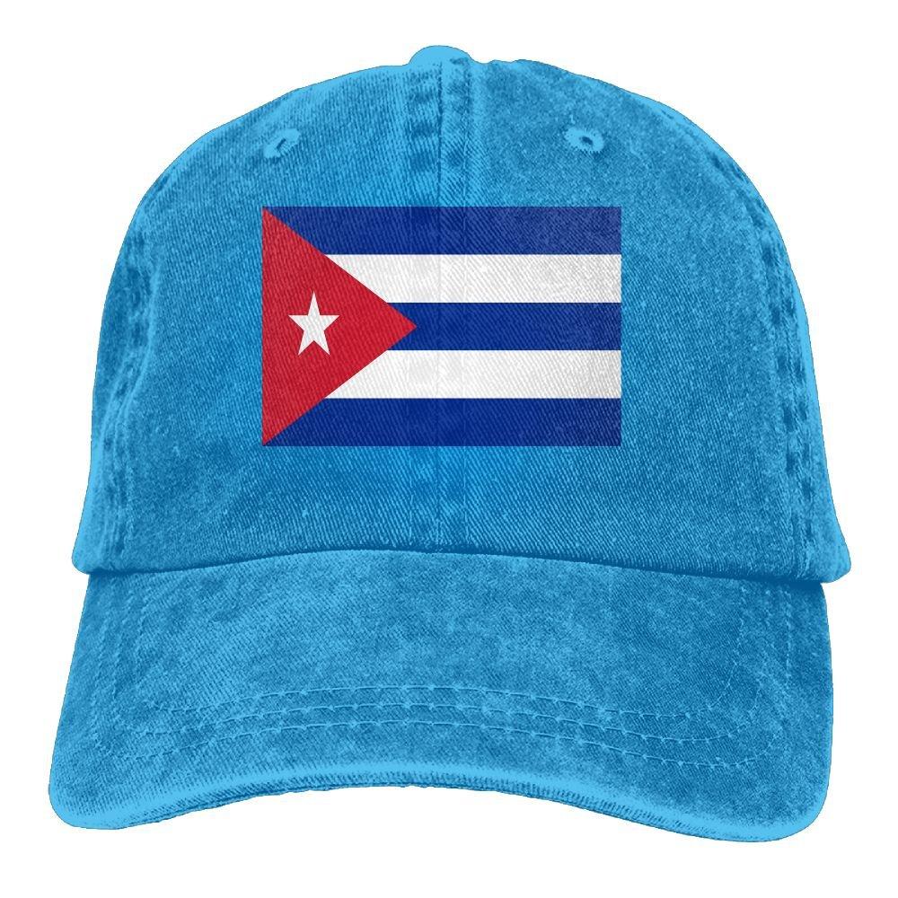 MASDUIH Flag Of Cuba Denim Hat Baseball Caps Adjustable Plain Cap