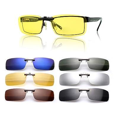 Gafas de sol polarizadas de clip, UV400, para conducción, aire libre, antirreflejos, para hombre y mujer, de Cosprof