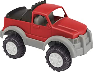 product image for American Plastic Toys Kids' Gigantic Pick-Up Truck, Large Truck Bed with Realistic Tonneau Cover, Knobby Wheels and Metal Axles Fit for Indoors and Outdoors, Haul Sand, Dirt, or Toys, for Ages 2+