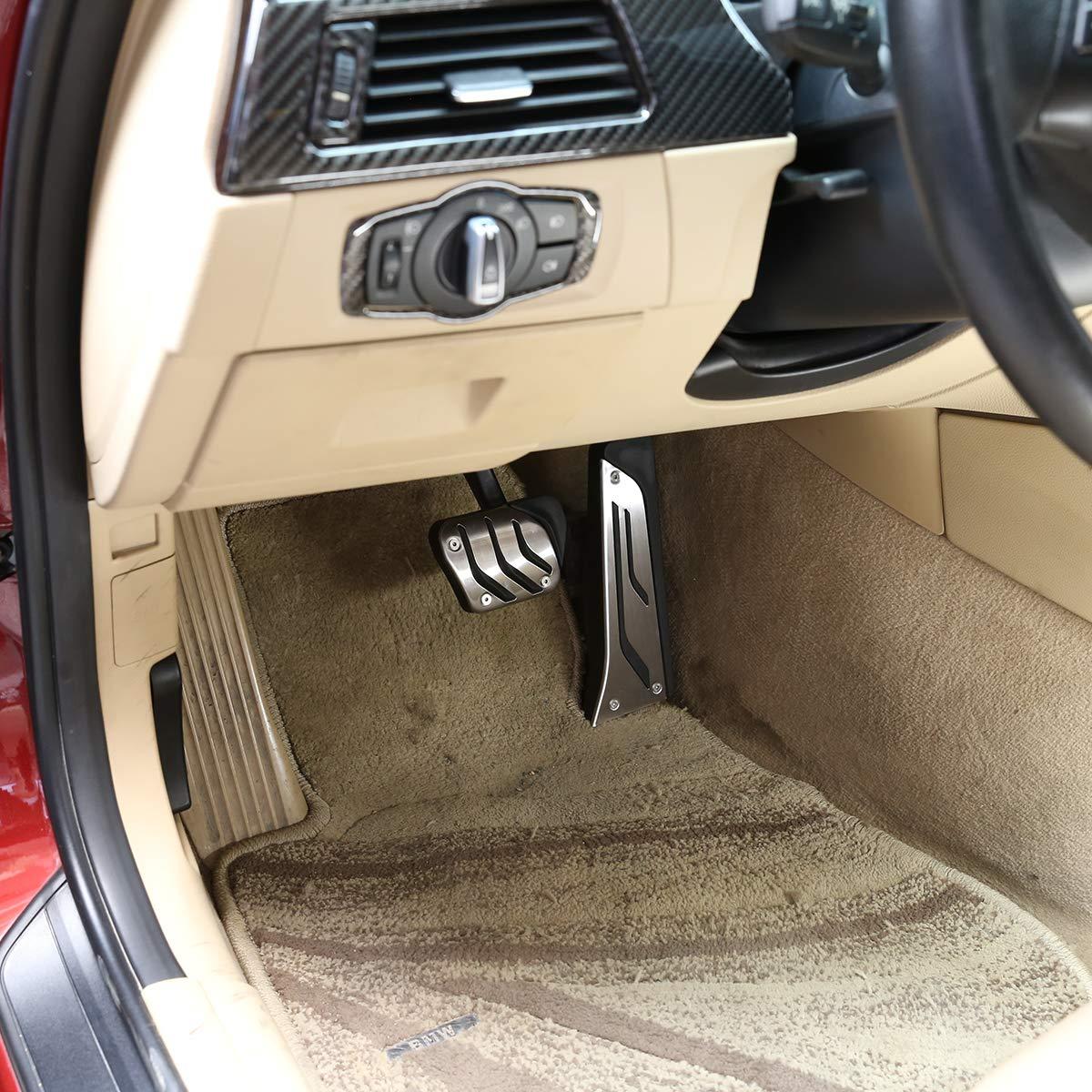in acciaio inox F16 F36 E71. F33 F26 F34 F31 E70 F22 F15 per G30 F32 F30 2 pedali antiscivolo per freno a carburante F10 F25