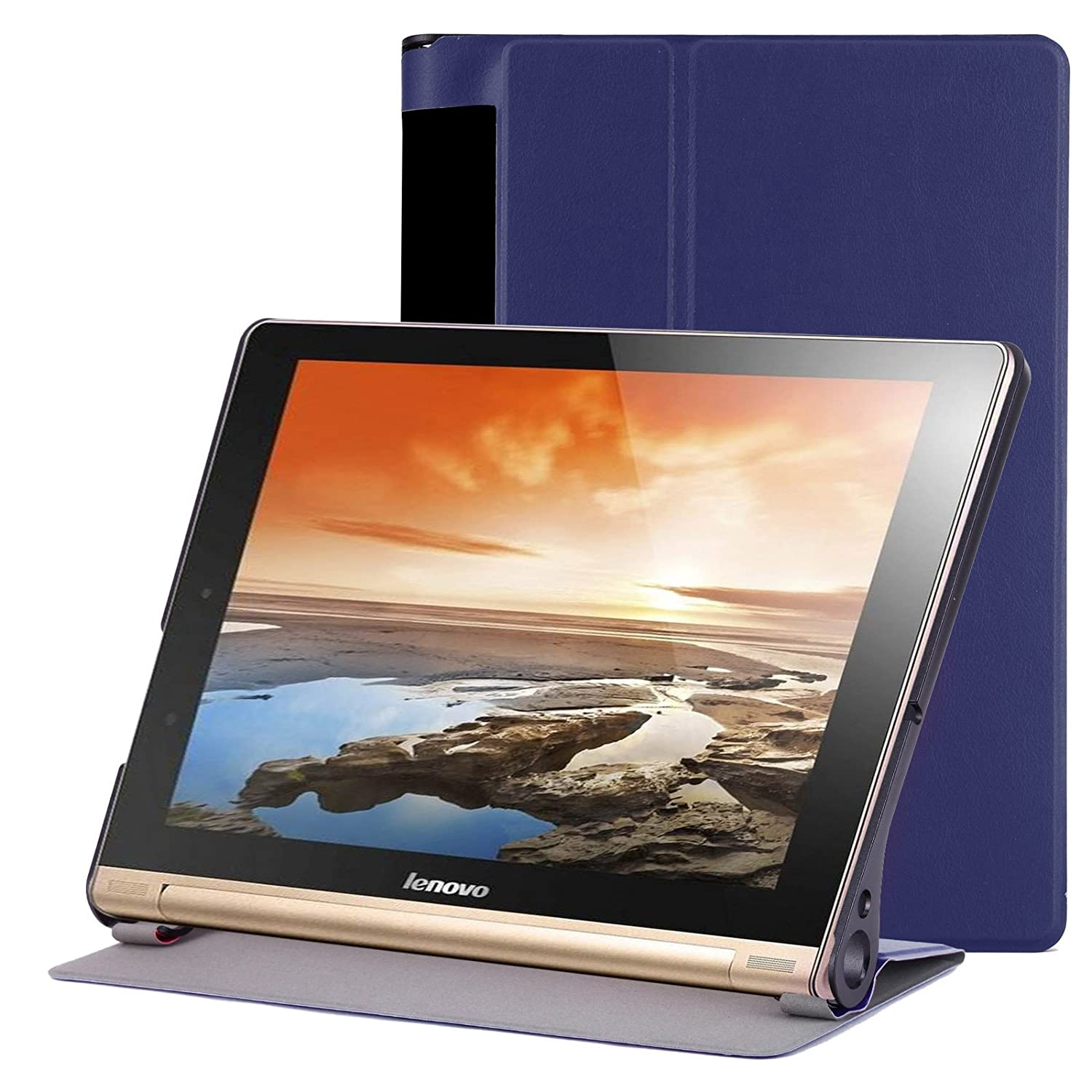 Lenovo Yoga TAB3 Plus 10.1 Funda Case – Slim Fit Folio Funda Smart Cover con Auto Sleep/Wake para Lenovo Yoga Tab 3 Plus 10.1 pulgadas yt-3601 – x703 ...