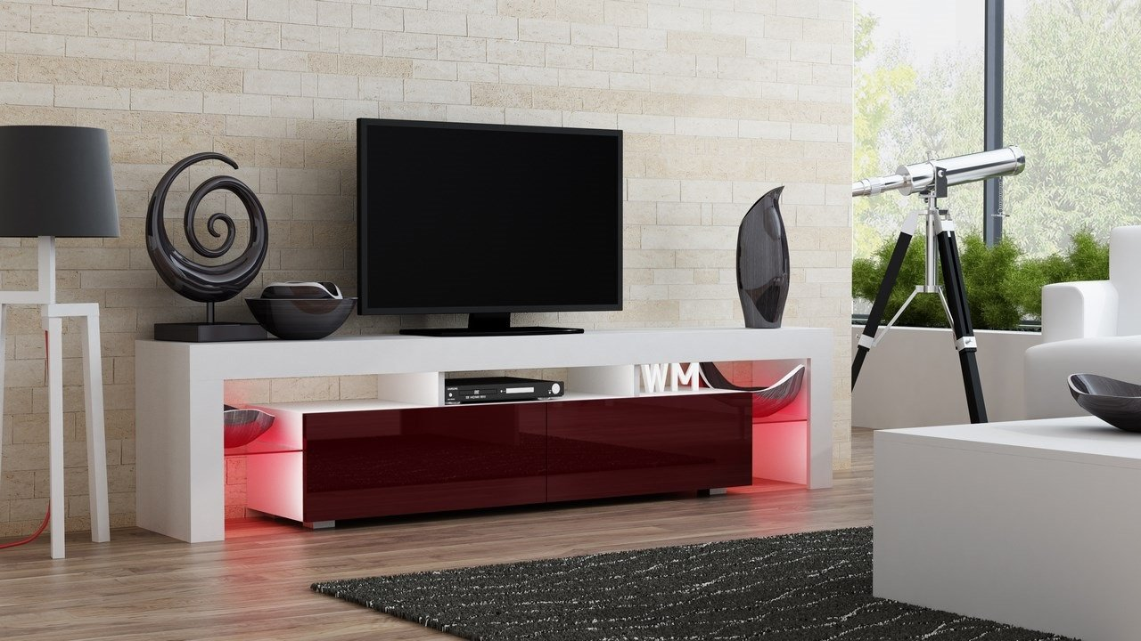 Tv Stand Milano 200 Modern Led Tv Cabinet Living Room Furniture