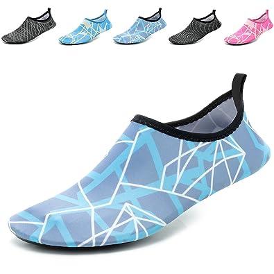 9381cfc4f868 CASMAG Mens Womens Water Skin Shoes Mesh Aqua Barefoot Shoes for Beach Swim  Surf Yoga Blue