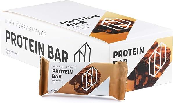 Proteína neosupps Bar cerrojo Fudge Brownie | Prote inreicher Snack | cerrojo individuales o 24 unidades) | schok oladiger sabor | 60 g proteína ...