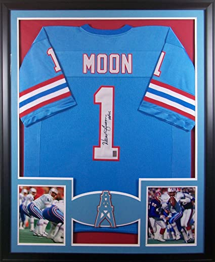 Image Unavailable. Image not available for. Color  Warren Moon Houston  Oilers Autograph Signed Custom Framed HOF INSCRIBED Jersey GTSM Certified f2c73fd2d
