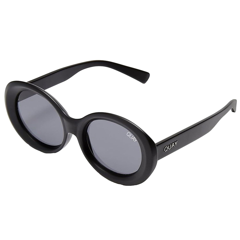 6a7996c4fc267 Amazon.com  Quay Australia MESS AROUND Women s Sunglasses Round Sunnies -  Black Smoke  Quay  Clothing