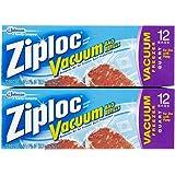 Ziploc Vacuum Pump Refill Bags Quart Size 12 Count