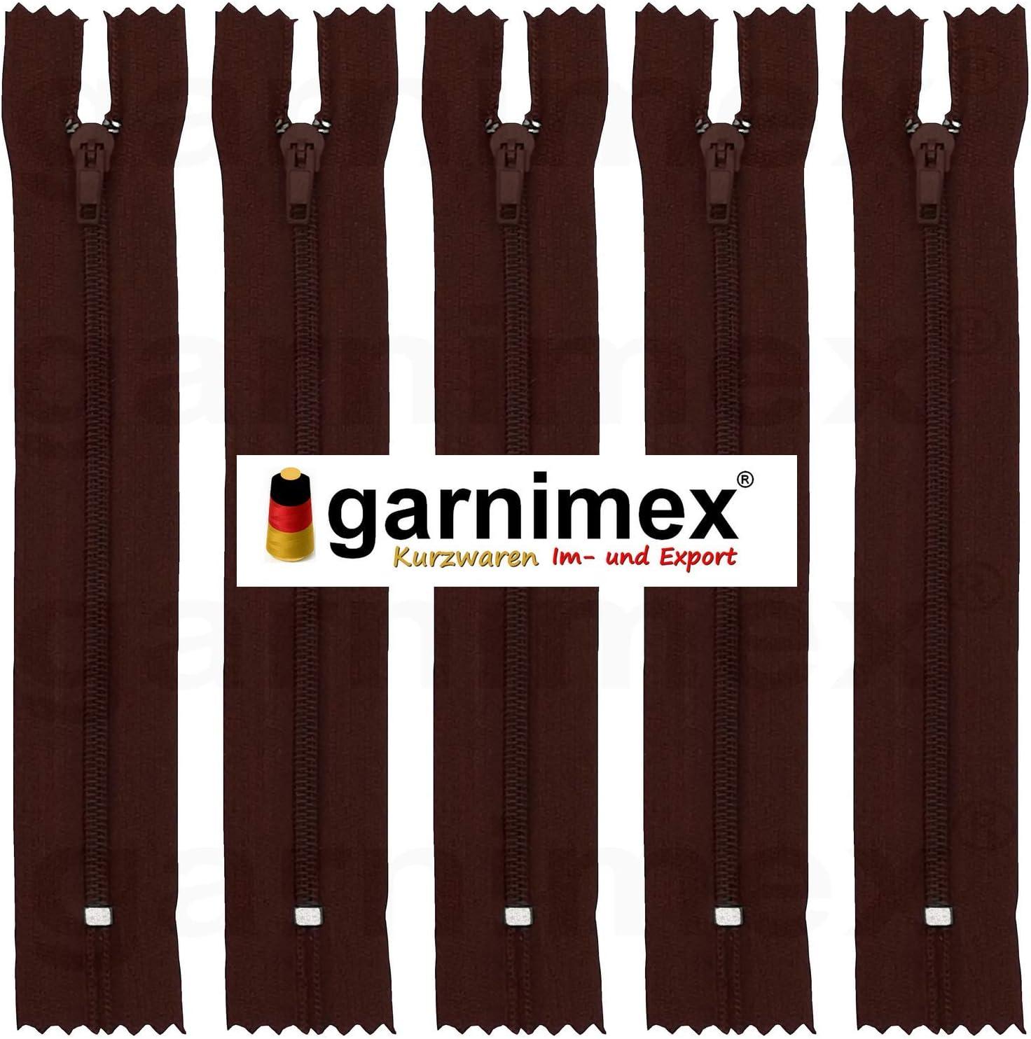 garnimex Cremallera Color marr/ón 35 30 cm x 5 Unidades, no Divisible