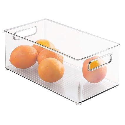 InterDesign Fridge/Freeze Binz Organizador para nevera, organizador de frigorífico grande de plástico,