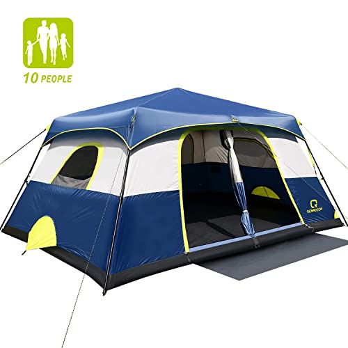 QOMOTOP Camping Tents, 4/6/10 People Instant Set Up Within 1 Minute Tent