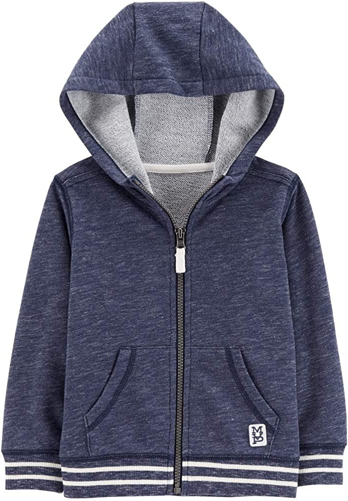 Navy Carters Zip-Up French Terry Hoodie 24 Months