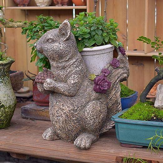 Sungmor - Estatua Decorativa de Resina para jardín, Estilo rústico, Estilo Retro, para decoración de macetas al Aire Libre, Apta para jardín y jardín: Amazon.es: Hogar