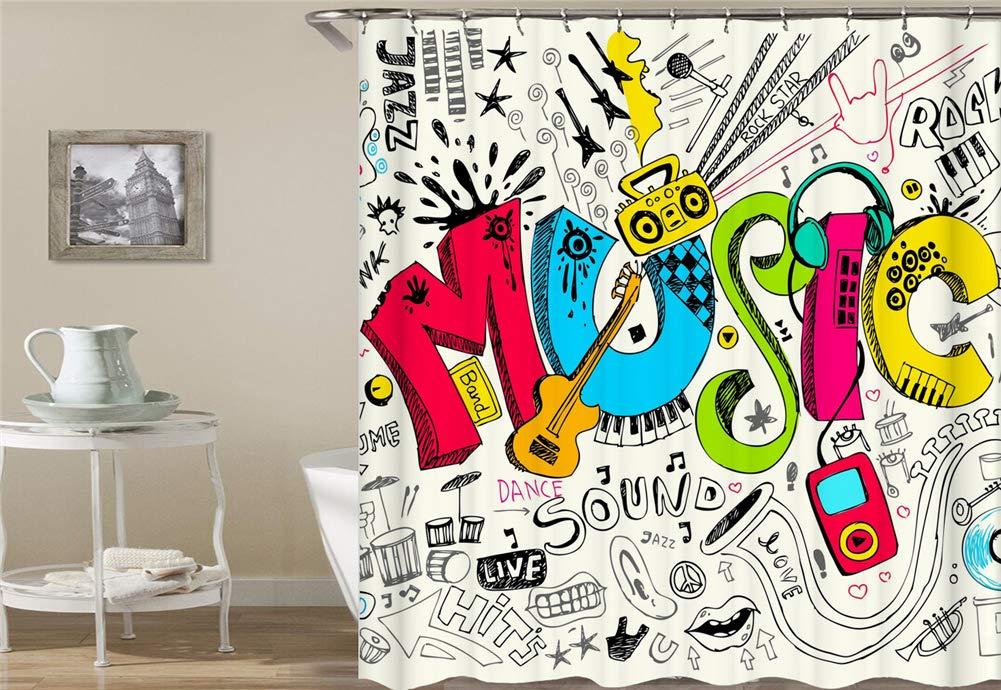 ZYJ Decoración Musical. Auricular, Altavoz, Guitarra. Micrófono ...