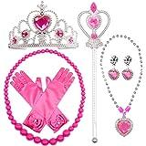 MMTX Princess Dressing Up Costume Accessori Set 6 pezzi regalo per principessa cosplay Guanti Tiara Bacchetta e collana