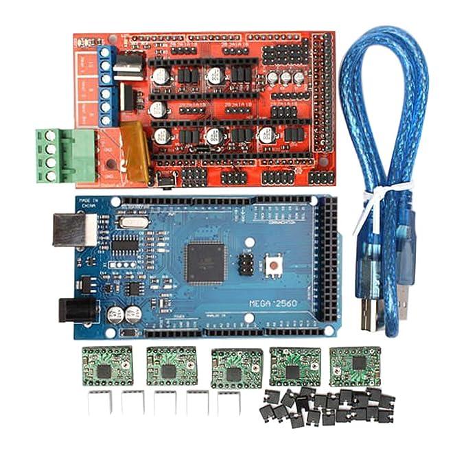 Homyl Set de Placa de Controlador de Impresora 3D + MEGA2560 R3 + ...
