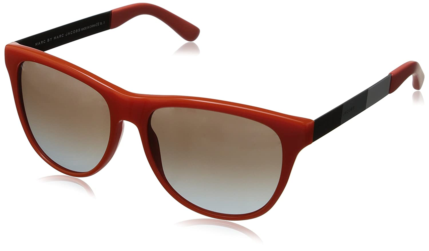 Marc by Marc Jacobs Unisex 408/S Sunglasses, Grey (Orange with Striped Grey/White/Black), One Size (Manufacturer Size:55 -16 -140) Mmj408s MMJ408/STF_6WG-55