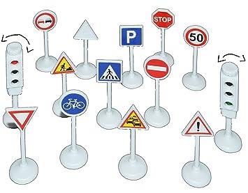 Unbekannt 14 Tlg Set Verkehrszeichen Mit Funktionierender