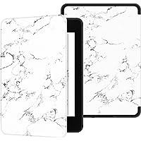 Ayotu Funda para Kindle Paperwhite (10.ª generación - Modelo de 2018)-Funda Inteligente de Cuero de PU con activación/suspensión automática,K10 White-The Marble Pattern