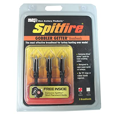 New Archery Products 100 Grain 3-Pack Spitfire Gobbler Getter