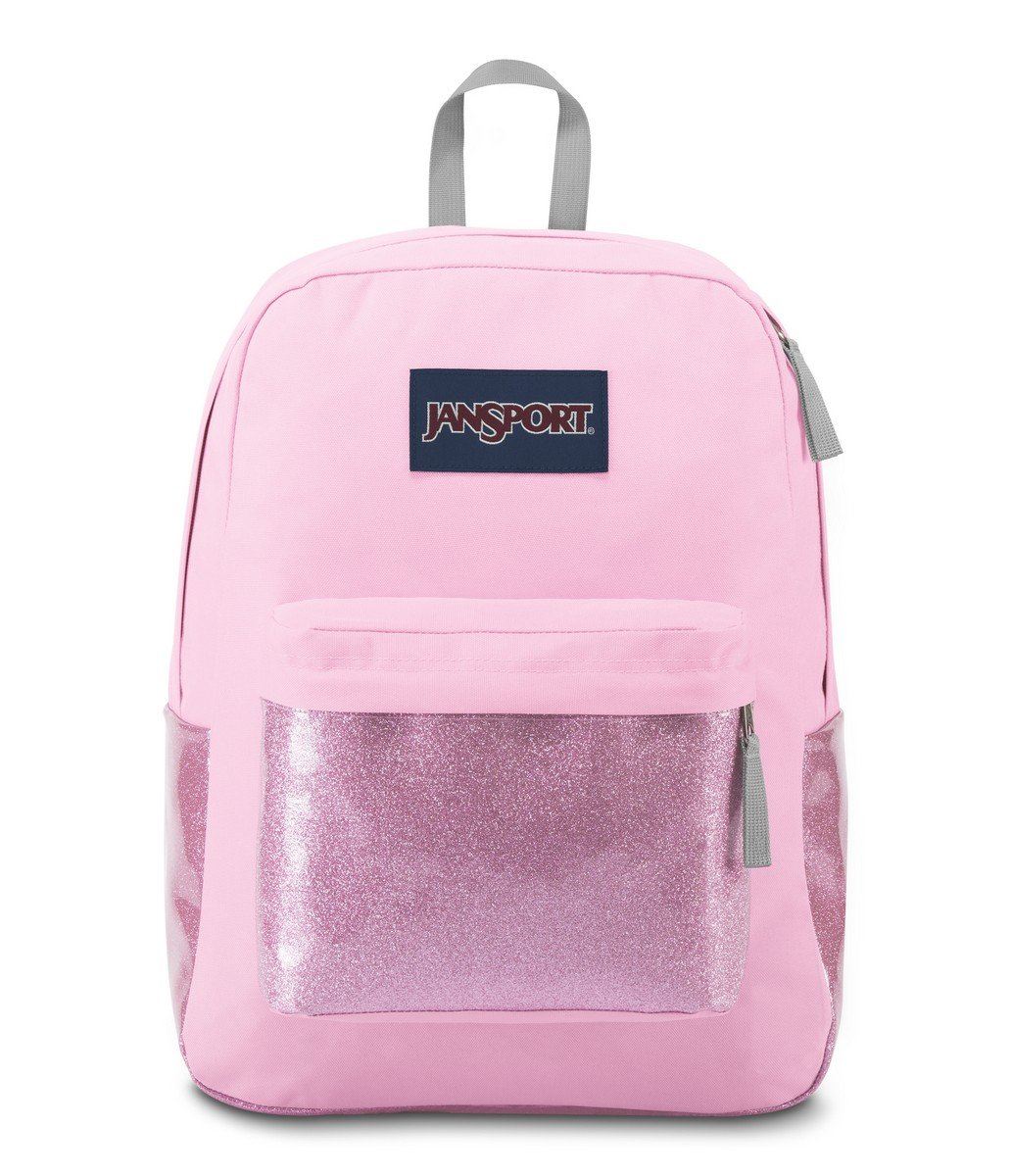 JanSport High Stakes Backpack- Sale Colors (Prism Pink Sparkle)