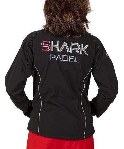 SH2009 Chaqueta Soft Shell Mujer transpirable cortaviento impermeable Shark Padel (negro, S)