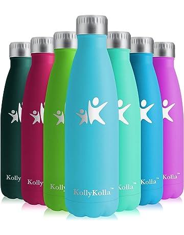 KollyKolla Botella de Agua Acero Inoxidable - 350ml/500ml/650ml/750ml, Termo