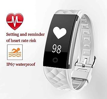 corelink Smart Salud pulsera con frecuencia cardíaca Sensor Smart Fitness Tracker pulseras Actividad podómetro pulsera para Android y iOS, ...