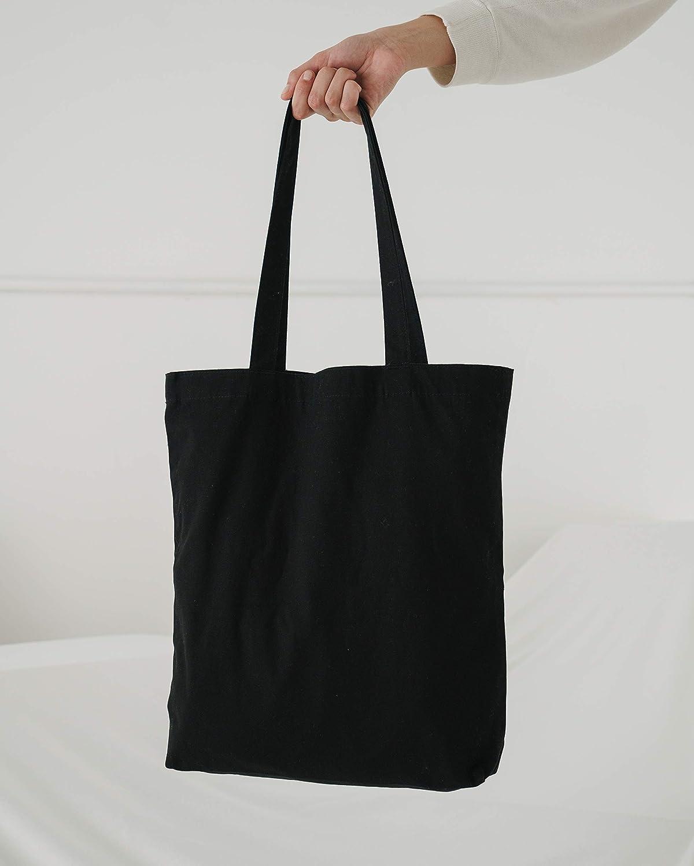 Baggu Merch Tote Simple And Easy Canvas Tote Bag Black