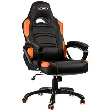 Nitro Concepts C80 Comfort Gaming Negro/Naranja - Silla Gaming: Amazon.es: Hogar