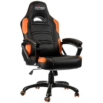Nitro Concepts C80 Comfort Gaming Negro/Naranja - Silla Gaming: Amazon.es: Hogar