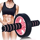 Ab Roller Wheel Exercise Equipment None Noise Ab Roller for Abs Workout Ab Wheel Ab Trainers Abdominal Roller Wheel Fitness H