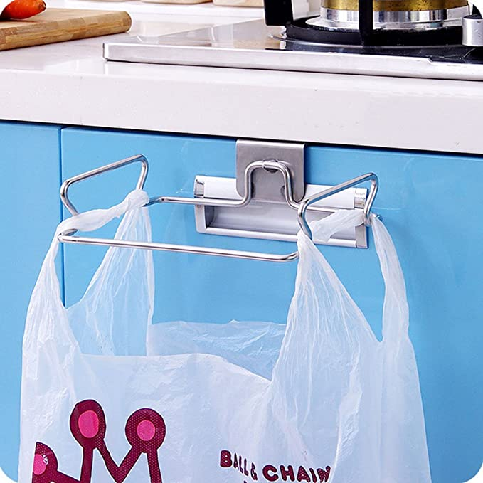 Amazon.com: Large Stainless Steel Trash Bag Holder for Kitchen ...
