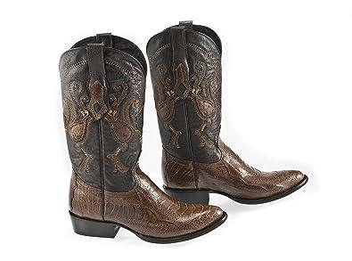a213b2b00a4 Amazon.com | Cuadra Cowboy Mens Boots Brown - Ostrich Leg Leather ...