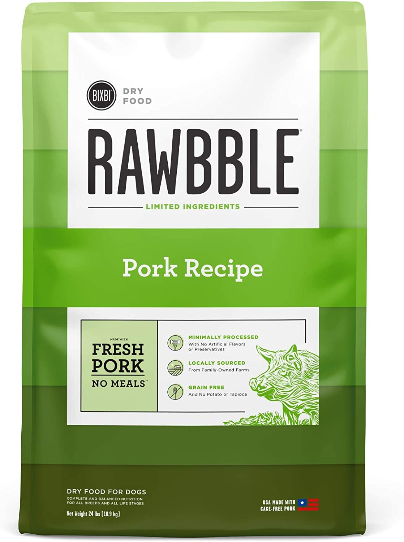 BIXBI Rawbble Dry Dog Food   Multiple Flavor Options   4 & 24 Pounds