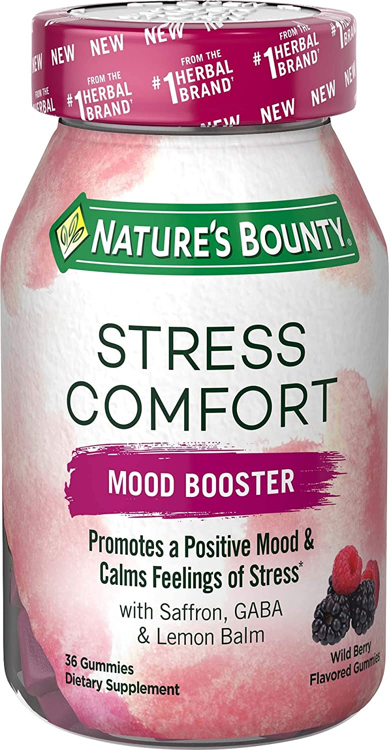 Nature's Bounty Stress Comfort Mood Booster, 36 Gummies
