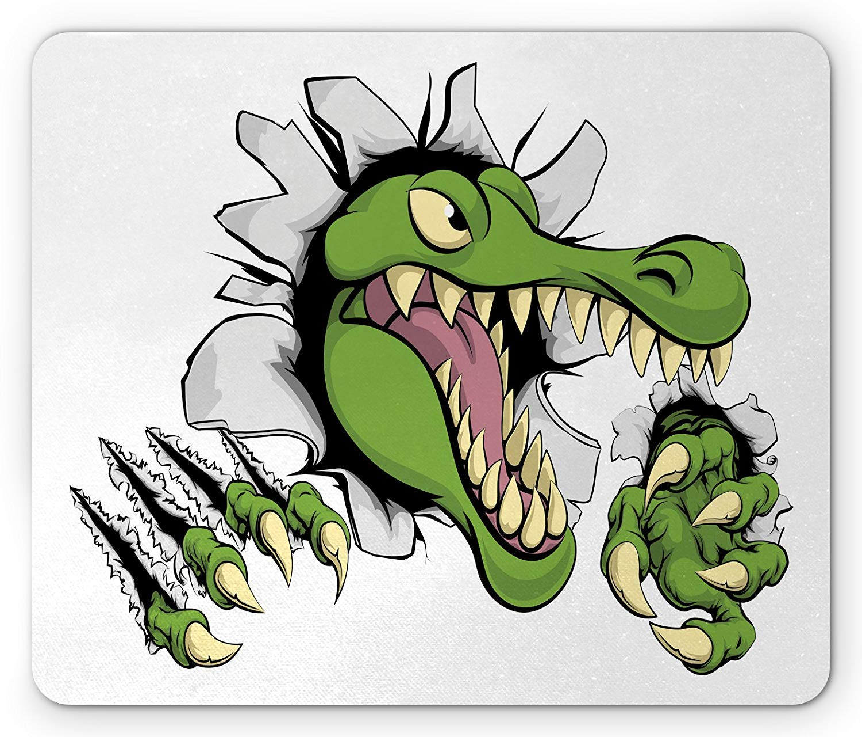 Whecom Alligator Alfombrilla Raton Gaming, Cartoon Style ...