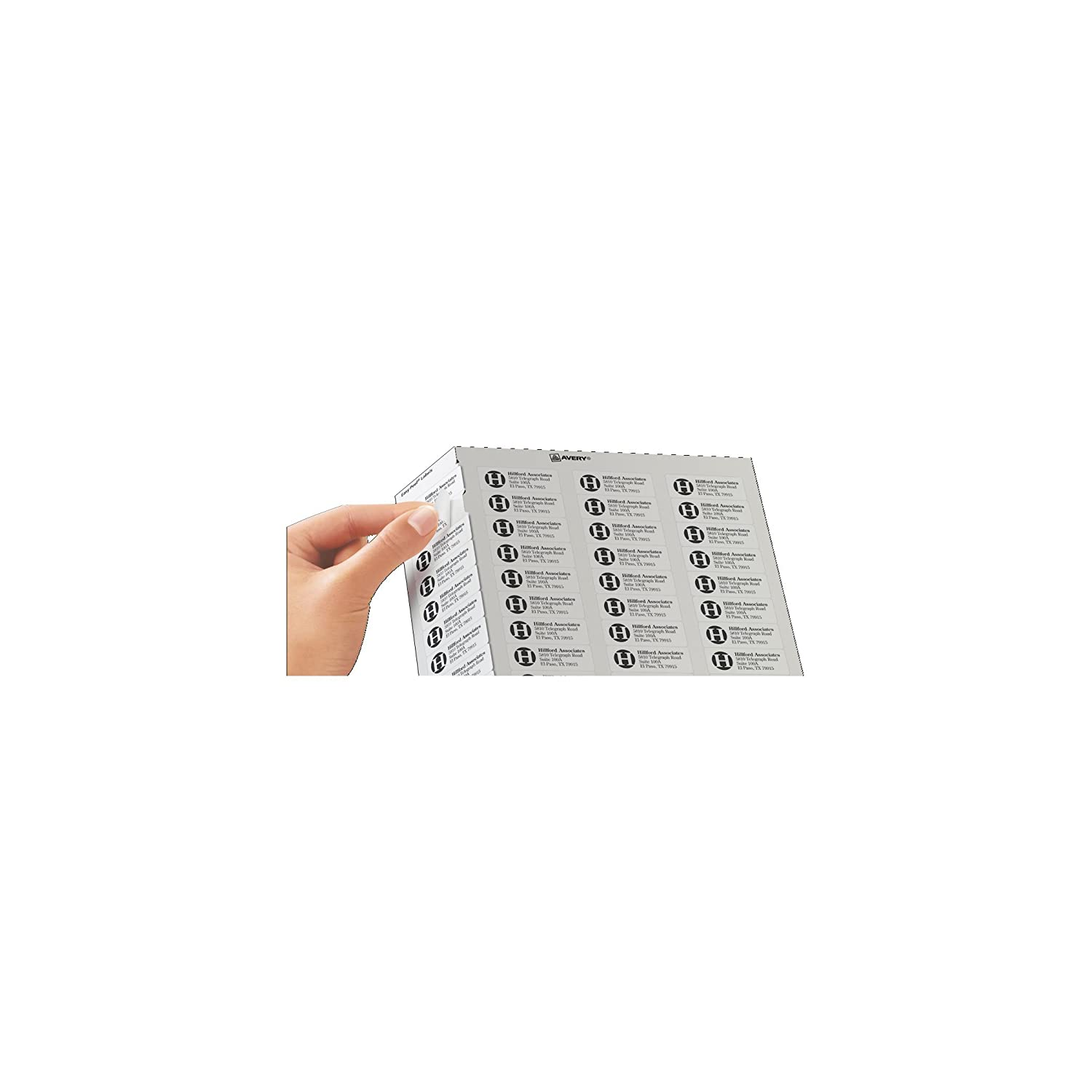 8195 template - Amazon Com Avery Easy Peel Return Address Labels For Laser Printers 2 3 X 1 3 4 Box Of 6 000 5155 Office Products
