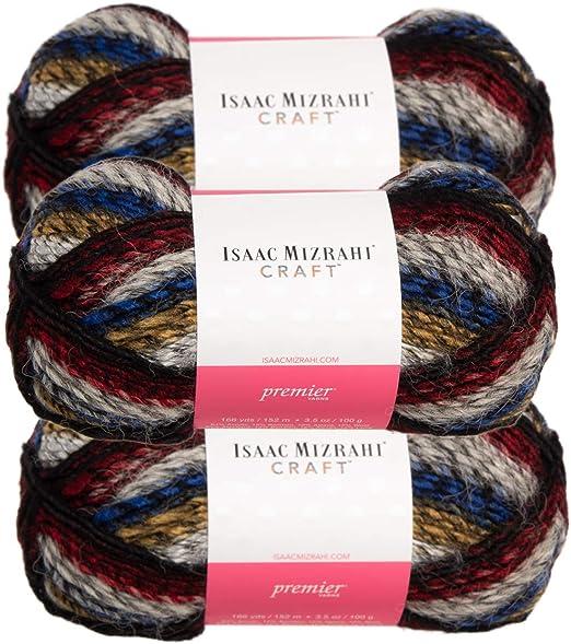 3pk Lion Brand Gold Leaf Acrylic /& Wool Super Bulky #6 Knit Crochet Skeins Soft
