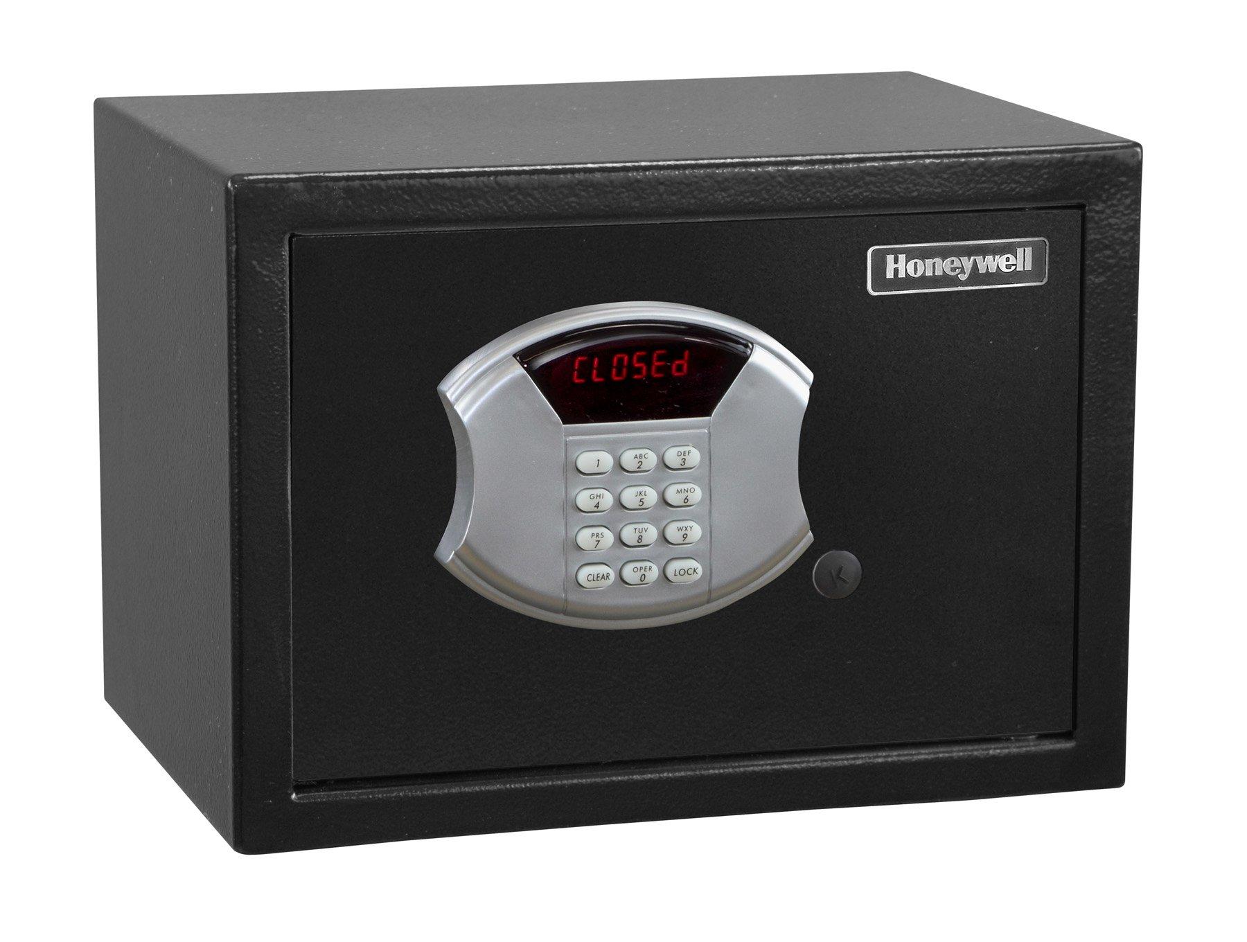 HONEYWELL - 5113 Steel Security Safe with Hotel-Style Digital Lock, 0.50-Cubic Feet, Black