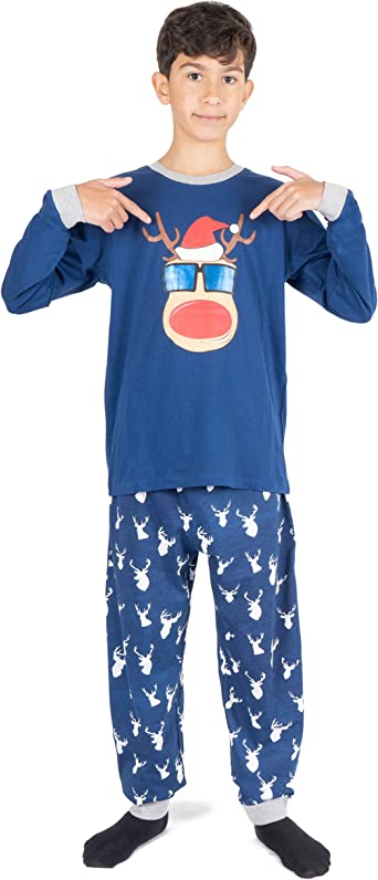 NOROZE Pijama de Navidad para niños, unisex, ropa de dormir ...