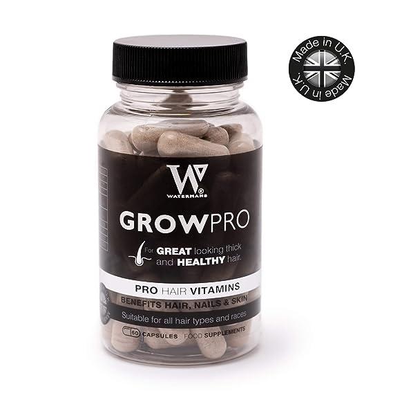 Mejores vitaminas para el cabello - GrowPro - Hair Growth Supplements con fórmula fortalecedora de uñas para uñas más fuertes y largas: Amazon.es: Salud y ...