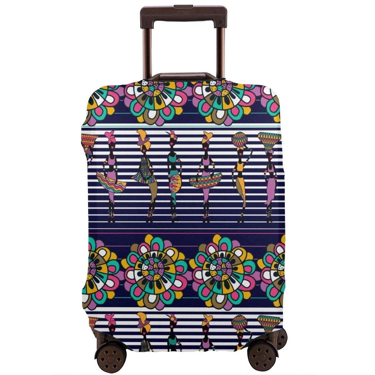 18-32 Inch Luggage Cover Protector Bag Suitcase Cover Protectors Travel Luggage Sleeve Protector S M L XL Boho Stripes XL