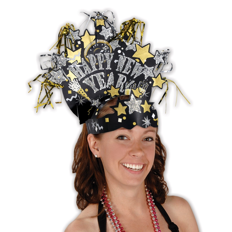 Beistle 80732 Glittered New Year Headdress The Beistle Company