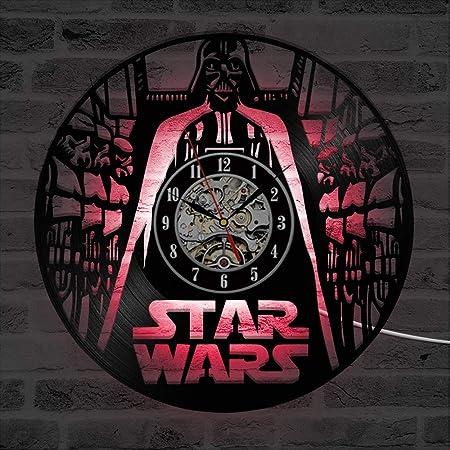 MXHSX Reloj de Pared con Disco de Vinilo, diseño de Star ...