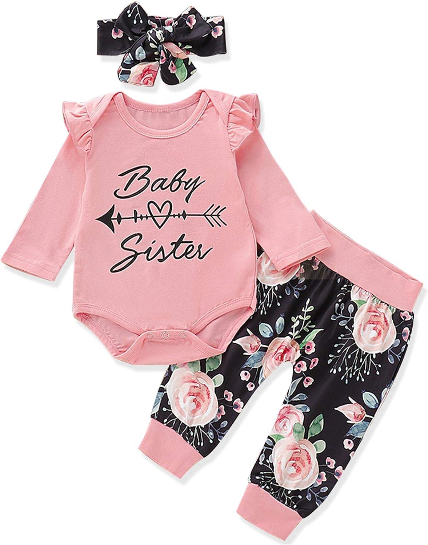 KANGKANG Newborn Baby Girl Clothes Newborn Baby Clothes Girl Cute Baby Girl Outfits 3PC
