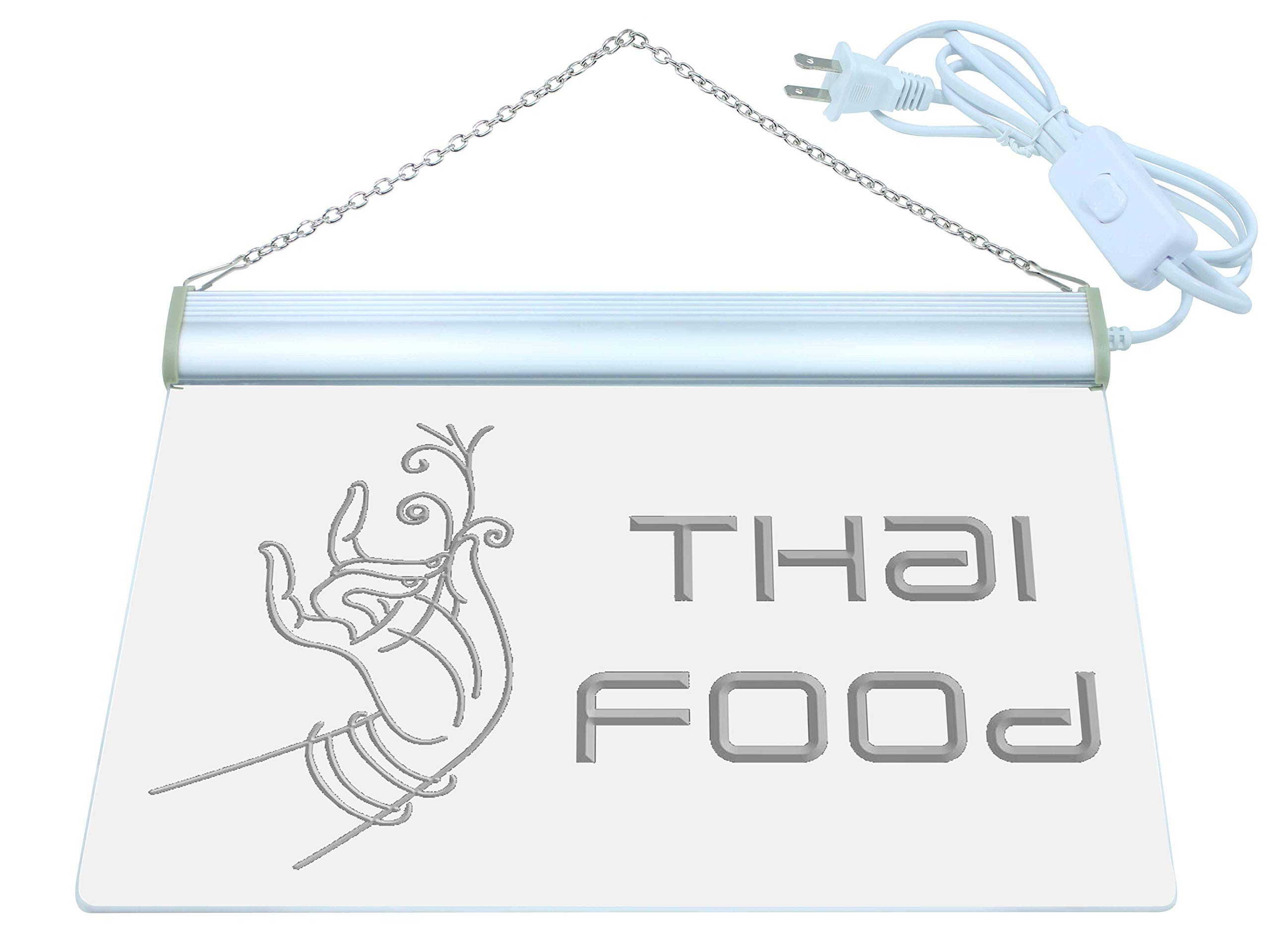 ADV PRO Thai Food Thailand Restaurant Cafe LED Neon Sign Blue 24'' x 16'' st4s64-i977-b by ADV PRO