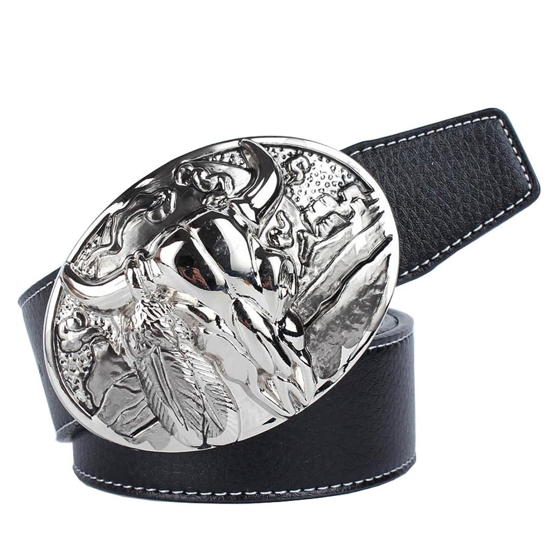 Oval Western Cowboy Belt Buckle Steampunk Machine Vintage Gothic Metal Women